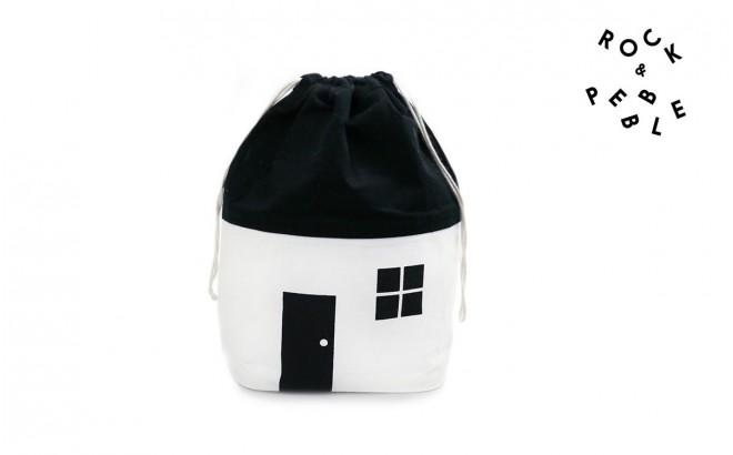 Bolsa Casa Modelo Pequeño para guardar Juguetes por Rock and Pebble