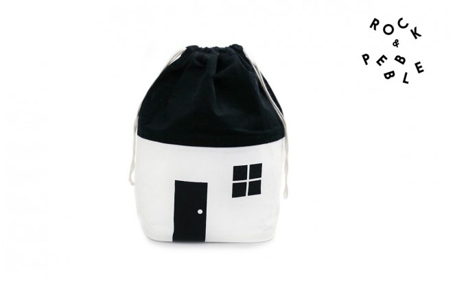 Small Organic House Storage Bag by Rock and Pebble