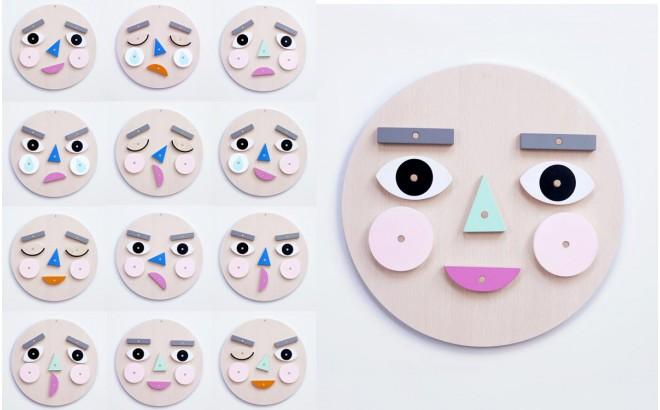 Make A Face Jouet en Bois Educatif pour Enfants