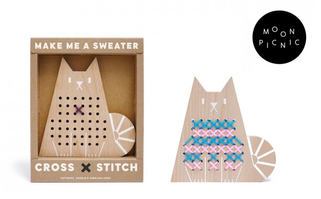 Cat Cross Stitch Game for Kids by Moon Picnic