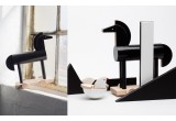 jouet cheval noir en bois Noxus par Kutulu design