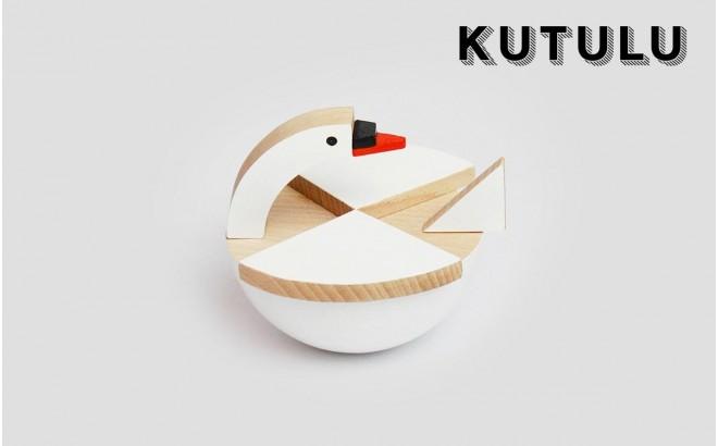 juguete cisne de madera blanco Labu por Kutulu design