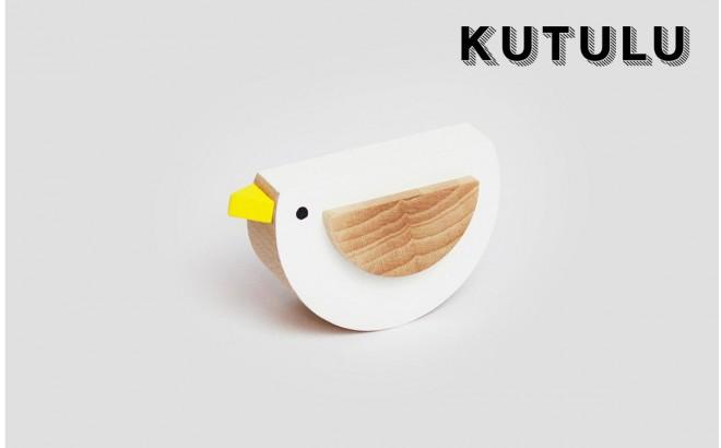 jouet oiseau blanc en bois Pipa par Kutulu design