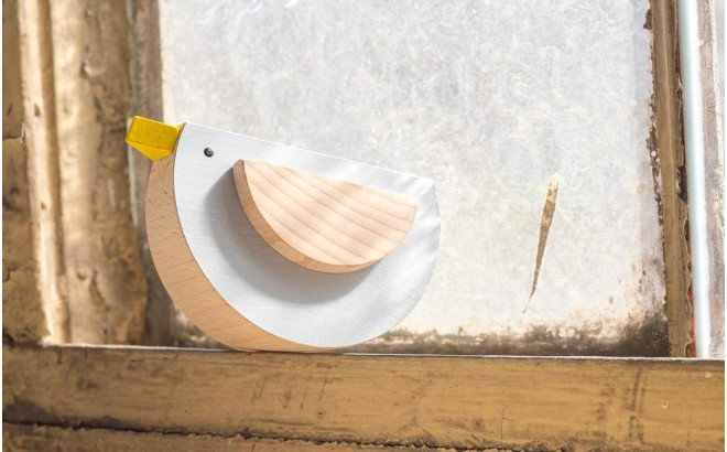 wooden grey bird toy Pipu by Kutulu design