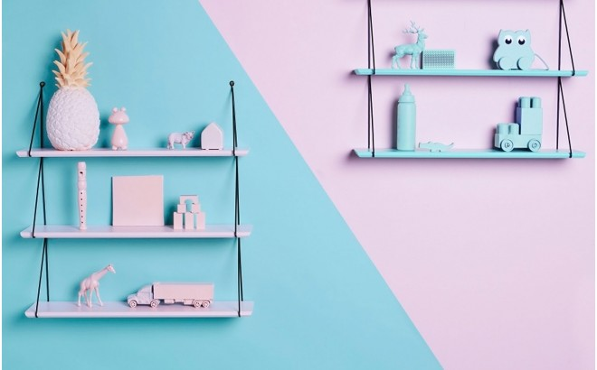 Babou wall shelf for baby girl nursery by Rose in April