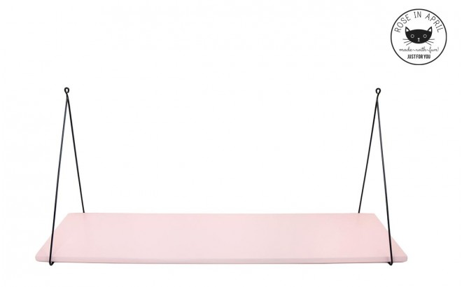 Light pink Babou wall shelf for baby girl nursery by Rose in April