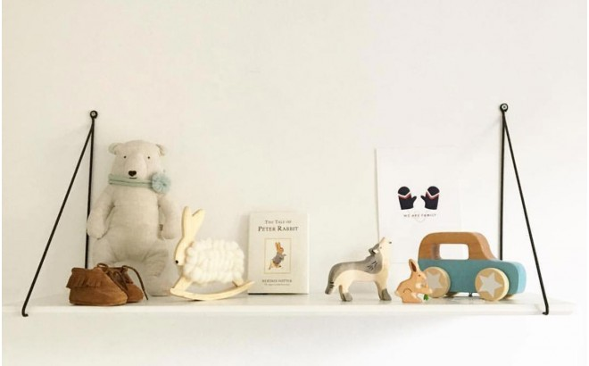 Babou white wall shelf for baby nursery by Rose in April