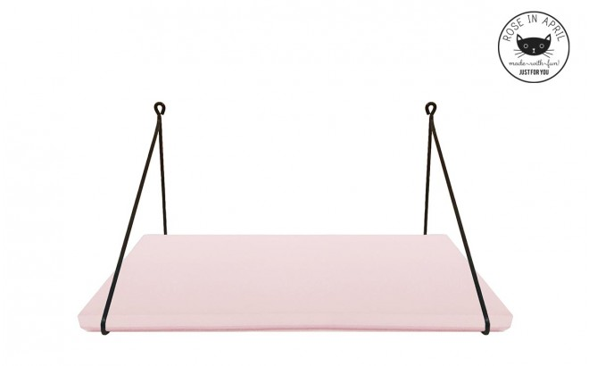 mini Babou light pink wall shelf for baby nursery by Rose in April