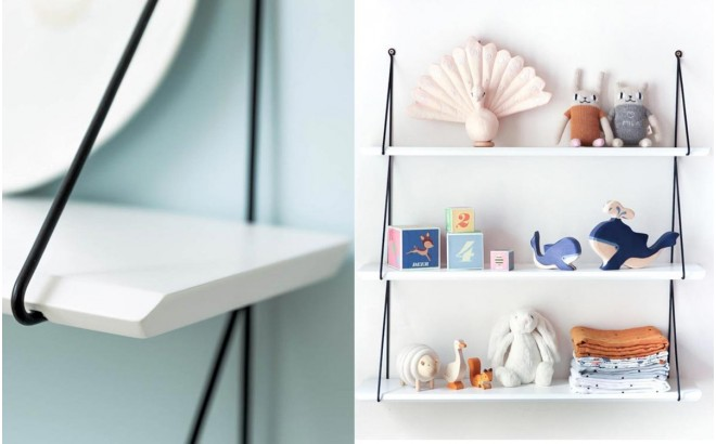 Babou shelves white for kids room by Rose in April