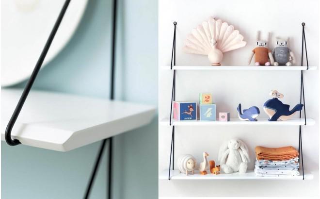 Etagères Babou 3 Blanc par Rose in April, Déco Chambre Enfant