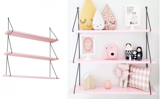 Babou shelves light pink for girls room by Rose in April