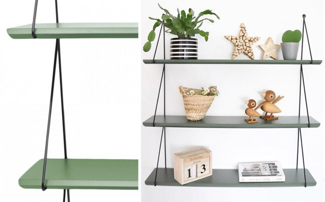 Babou shelves kaki for kids room by Rose in April