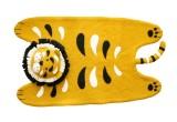 alfombra infantil tigre de fieltro por Fiona Walker