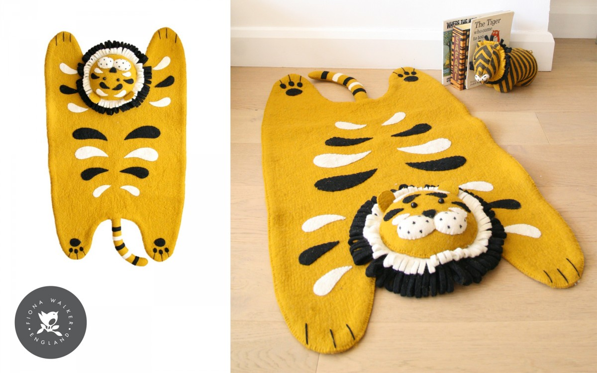 tapis tigre pour enfant