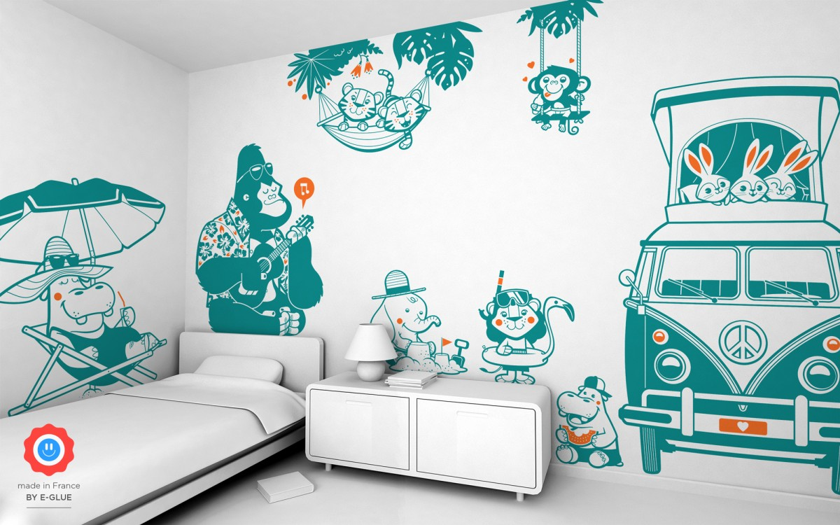 gorilla wall decals for kids