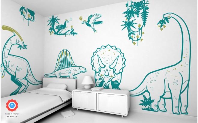 vinilos infantiles dinosaurios para decorar habitación niño