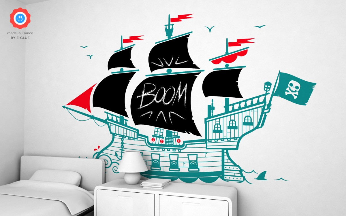 pirate boat chalkboard wall decals