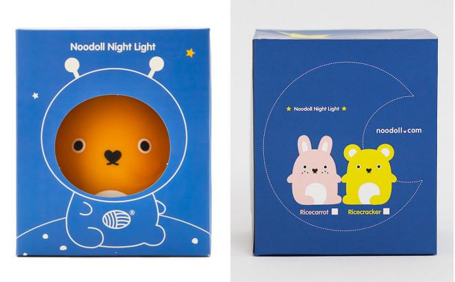 lampe veilleuse bébé et enfant Ricecraker jaune par Noodoll