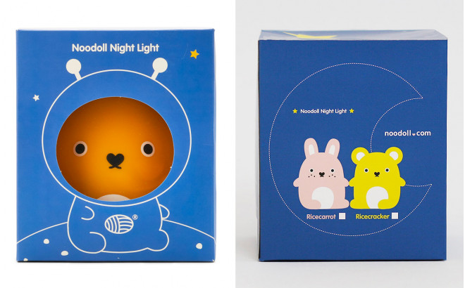 night light for nursery or kids room Ricecracker yellow by Noodoll