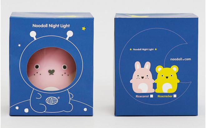 lampe veilleuse bébé et enfant Ricecarrot rose par Noodoll