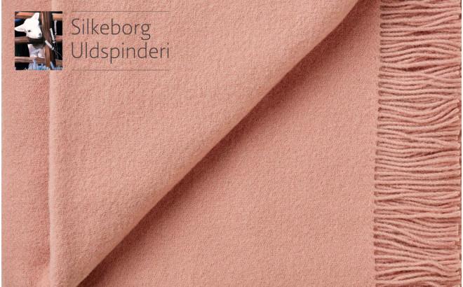 Manta infantil de lana merino ecológica rosa dulce