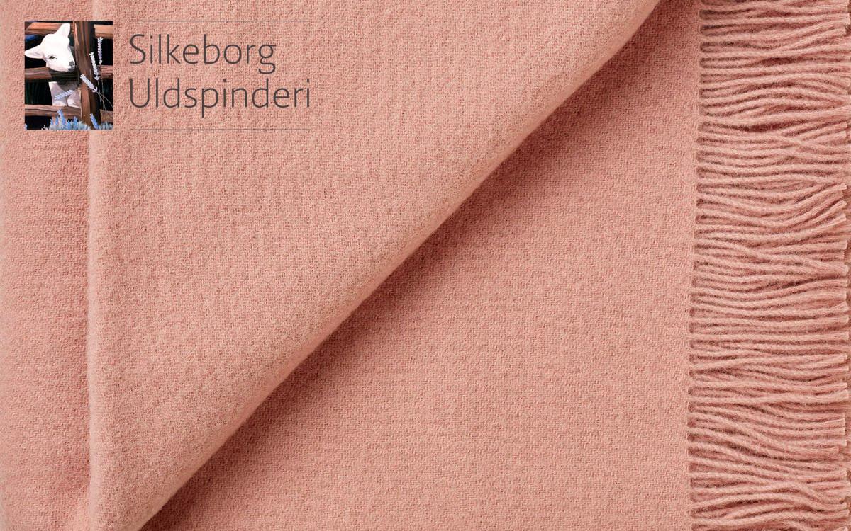 couverture enfant en laine (rose fauve)