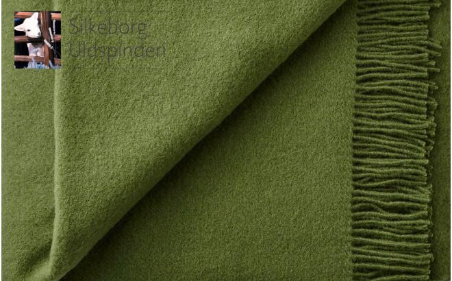couverture enfant Silkeborg Uldspinderi en laine scandinave vert cypres