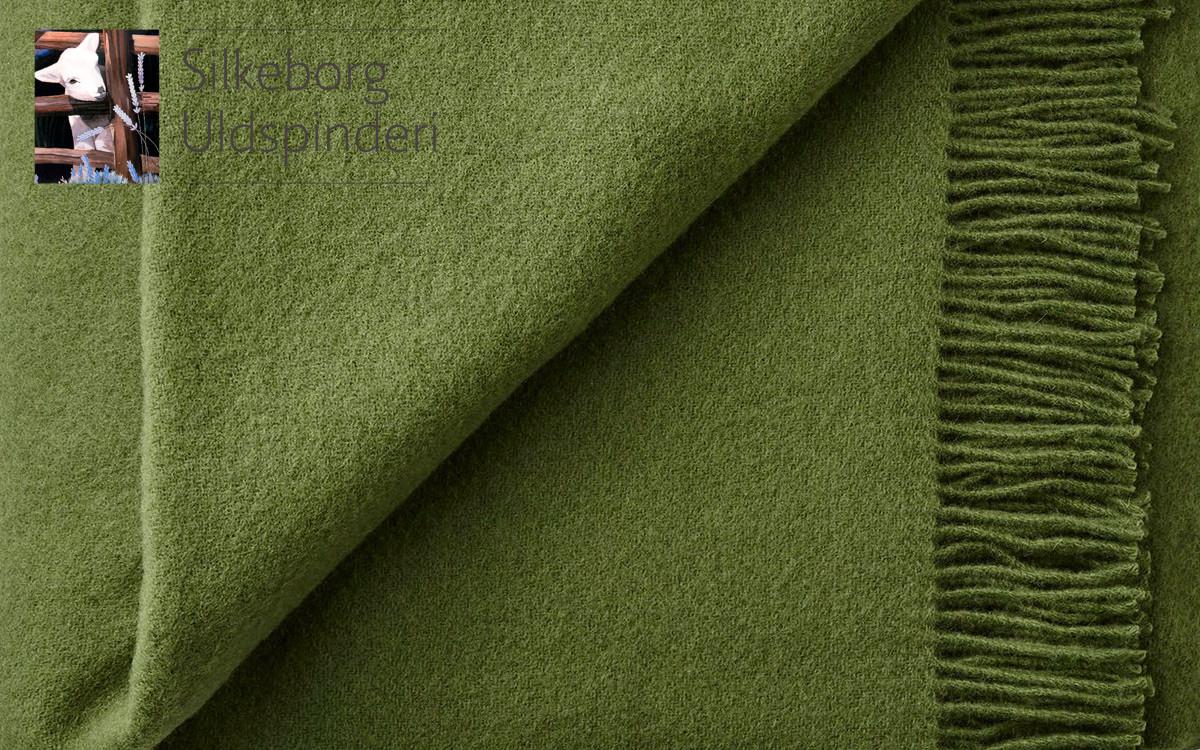 couverture enfant en laine (vert cyprès)