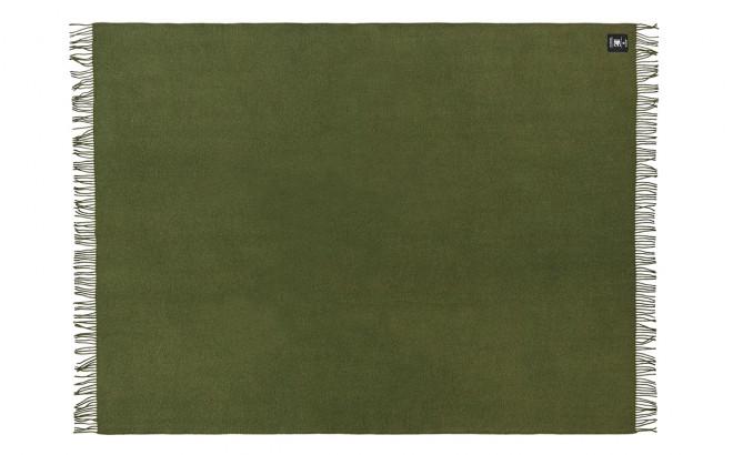 Manta infantil de lana merino verde cipres ecológica Silkeborg Uldspinderi