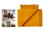 couverture enfant Silkeborg Uldspinderi en laine scandinave jaune tournesol
