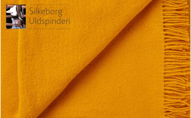 Manta infantil de lana merino amarillo girasol ecológica Silkeborg Uldspinderi