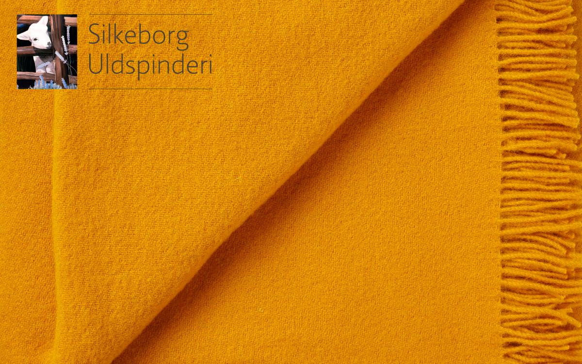 couverture enfant en laine (jaune)