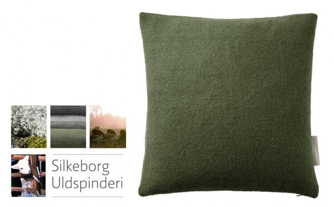 cypress green Scandinavia wool children's throw cushion