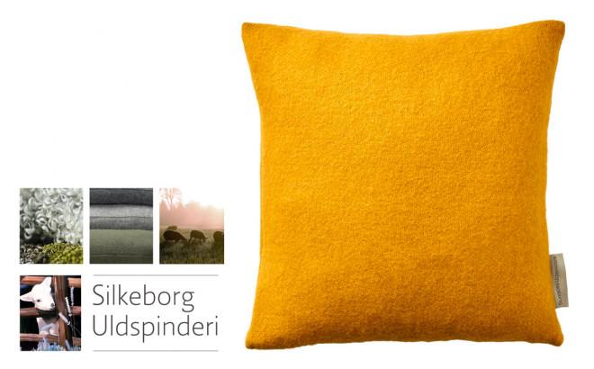 sunflower yellow Scandinavia wool children's throw cushion