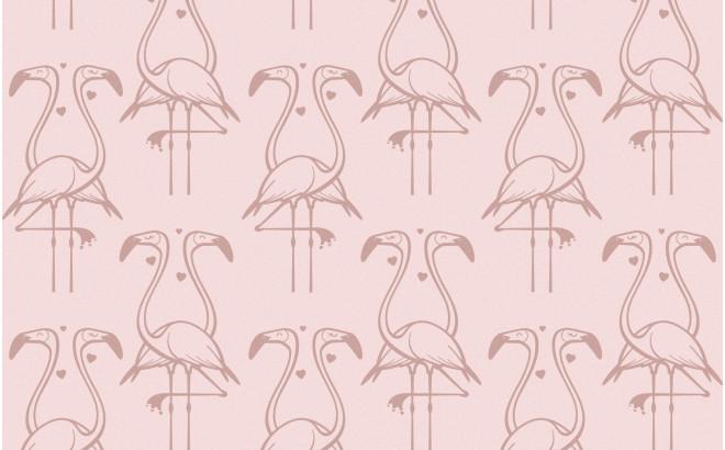 papier peint flamant rose pour chambre enfant fille