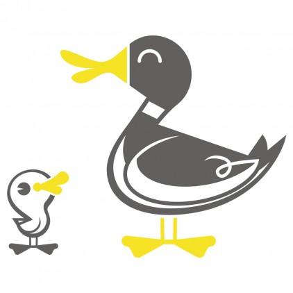 sticker enfant animal ferme canard