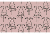 old pink flamingo wallpaper for kids room, girls room