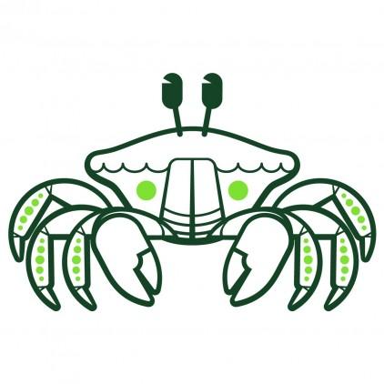 sticker enfant fonds marins crabe