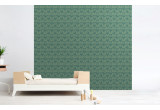 sage green flamingo wallpaper for kids room, girls room