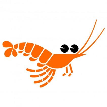 shrimp underwater world kids wall decal