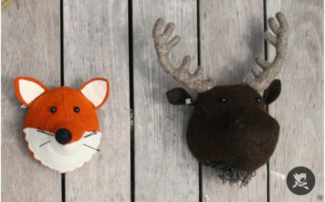 mini fox head wall trophy by fiona walker
