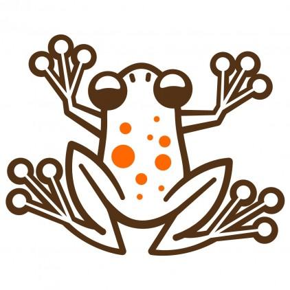 sticker enfant jungle grenouilles