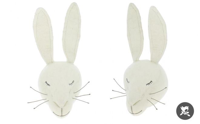 trofeo de pared conejo blanco por fiona walker