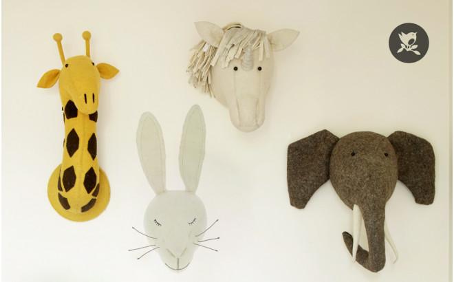 trophée mural tête de lapin blanc fiona walker