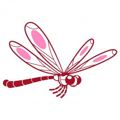 dragonfly nature kids wall decal