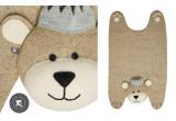 tapis ours à couronne pour enfant en feutre par Fiona Walker