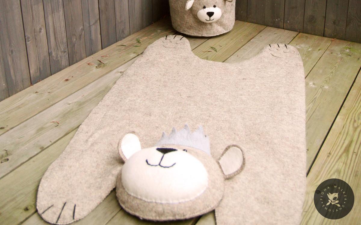 tapis ours pour enfant