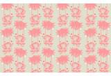 papel pintado bebé mono rosa para habitación infantil, cuarto bebé niña