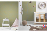 papel pintado africano amarillo para habitación infantil bebé o niño