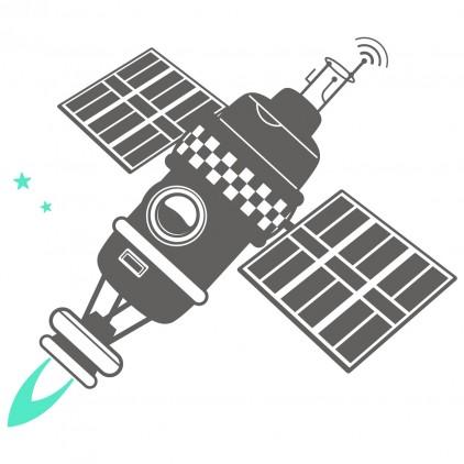 vinilos infantiles espacio universo monos satélite espacial
